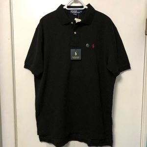 NEW POLO🏇🏻RALPH LAUREN BLACK / RED LOGO POLO XL